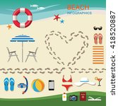 infographic travel planning a...   Shutterstock .eps vector #418520887