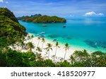 bird eye view of angthong... | Shutterstock . vector #418520977