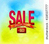 sale offer template in oil... | Shutterstock . vector #418537777