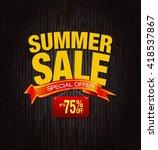 summer sale special offer... | Shutterstock . vector #418537867