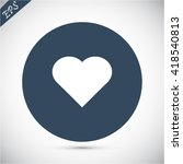 heart icon | Shutterstock .eps vector #418540813