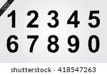 grunge numbers set.vector...   Shutterstock .eps vector #418547263