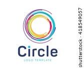 target logo. round logo. planet ... | Shutterstock .eps vector #418549057