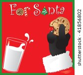Santa Holds A Chocolate Chip...