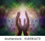 pranic healer with beautiful... | Shutterstock . vector #418581673