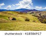 Rural Landscape. Old Barn Near...