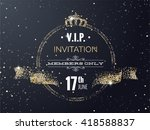 vip party premium invitation... | Shutterstock .eps vector #418588837
