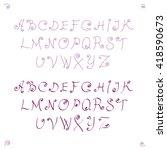 decorative capital letters... | Shutterstock . vector #418590673