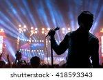 Singer Man Posing And Singing...