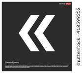 arrow up vector icon. upload... | Shutterstock .eps vector #418599253