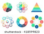 business infographics. charts ... | Shutterstock .eps vector #418599823