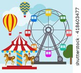 circus illustration template  | Shutterstock .eps vector #418603477