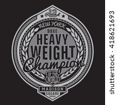 boxing  sport typography  t... | Shutterstock .eps vector #418621693