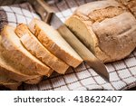 sliced homemade bread   Shutterstock . vector #418622407
