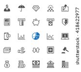 finance icons with white... | Shutterstock .eps vector #418622977