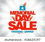 memorial day sale weekend... | Shutterstock .eps vector #418625197