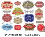 vintage color label.collection... | Shutterstock .eps vector #418633597
