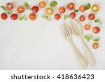 still life red tomatoes and...   Shutterstock . vector #418636423