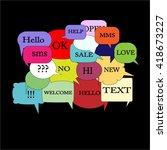 vector modern bubble speech on  ... | Shutterstock .eps vector #418673227