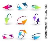 volume set of cursors  vector... | Shutterstock .eps vector #418687783