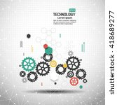 abstract technological... | Shutterstock .eps vector #418689277