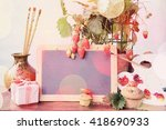 artistic background drawing ... | Shutterstock . vector #418690933