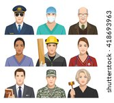 set of profession | Shutterstock .eps vector #418693963