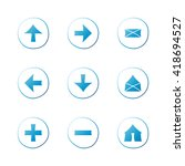 web blue gradient icons set....