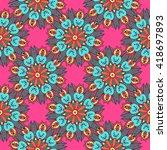 seamless pattern. vintage... | Shutterstock .eps vector #418697893