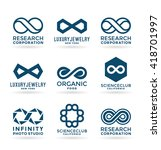 set of various infinity symbols ... | Shutterstock .eps vector #418701997