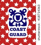 coast guard day greeting card.... | Shutterstock .eps vector #418714363