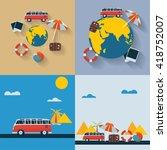 travel | Shutterstock .eps vector #418752007