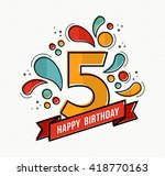 happy birthday number 5 ... | Shutterstock .eps vector #418770163