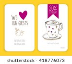 coffee discount card. template...   Shutterstock .eps vector #418776073