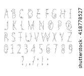 line flat font  | Shutterstock .eps vector #418778527