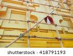 repair the temple in... | Shutterstock . vector #418791193