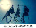 bras drying in the sun on a... | Shutterstock . vector #418796137