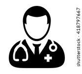doctor icon   vector | Shutterstock .eps vector #418797667