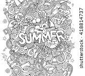 summer hand lettering and... | Shutterstock .eps vector #418814737