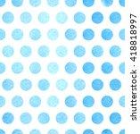watercolor polka dots. vector...   Shutterstock .eps vector #418818997