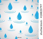 set with big water drop and... | Shutterstock .eps vector #418820797