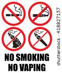 set vaping icons no smoking sign | Shutterstock .eps vector #418827157