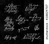huge hand drawn lettering set....   Shutterstock .eps vector #418829707