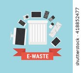 electronic waste in gray... | Shutterstock .eps vector #418852477