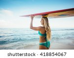beautiful sexy young woman in... | Shutterstock . vector #418854067