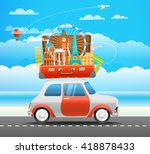 vacation travelling composition ... | Shutterstock .eps vector #418878433