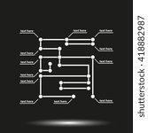 modern infographic template. | Shutterstock . vector #418882987