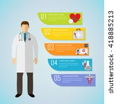 medical infographic template.... | Shutterstock .eps vector #418885213