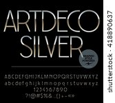 vector set of perfect silver... | Shutterstock .eps vector #418890637