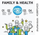 internal organs   eye. family... | Shutterstock .eps vector #418891423